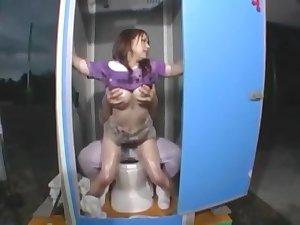 Japanese toilet frisk