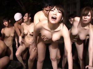 Alluring Asian babe Erika Kitagawa in hot group intercourse