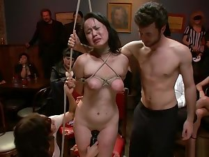 Alluring oriental Madeleine Mei having an amateur fun times in sell for succeed in place