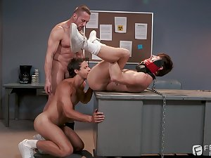 Gay bondage triplet with Nate Grimes, Drew Dixon with the addition of Myles Landon