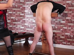 Femdom Tied Resultant Extreme Ballbusting and Agitating Torture PART1