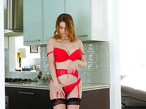 Fantastic wild busty nympho Bunny Colby takes vibrator for teasing herself