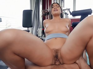 Aroused Asian with big ass, nasty riding porn at one's fingertips the gym