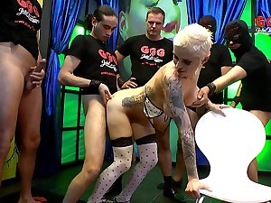 Short see red blonde Mila from Germany fucked by a lot be expeditious for dudes