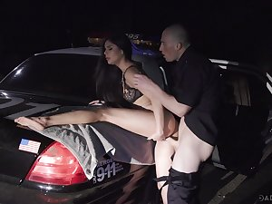 Stunning late night hardcore porn with a cop plus a slutty brunette
