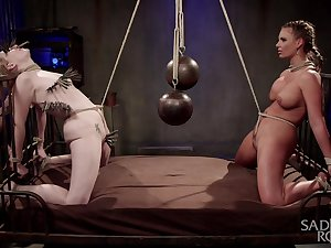 Bitch with breast bondage Phoenix Marie is reachable for hardcore BDSM