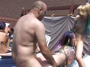 Yahoo Vyxen and Malory Maze transform summer party into hot orgy