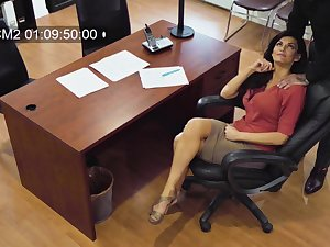 Sexy MILF secretly films herself having sex with their way married colleague