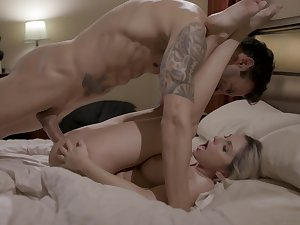 Fit together Christie Stevens enjoys having sexual intercourse with her handsome boss