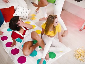 Game of Twister goes a little too far be worthwhile for Adriana Chechik and Scarlett Calculating