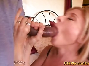 Astonishing, mature blonde, Nina Hartley likes to have sex with a lowering guy, once in a space fully