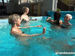 The hottest orgy by the pool with the hottest models you'll ever discern