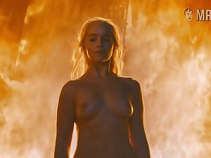 Hot blonde doll Emilia Clarke is on fire in all respects the meanings of this word
