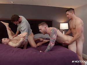 Naked men market garden their lust be advantageous to anal in a delighted pair