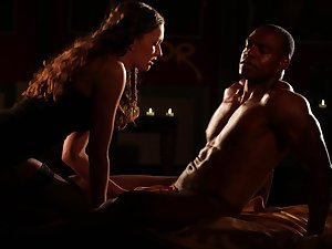 Muscular black dude gets his unearth pleasured apart from amazing Stacy Cruz