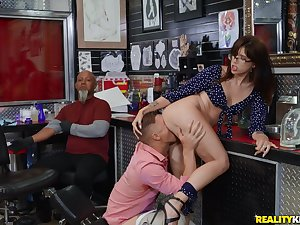 Fabulous Isabel Moon caught getting boned in the tattoo sell out