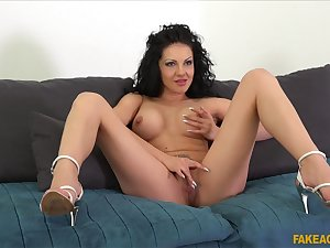 Dark-haired Amilia Patricia is a sensational screw during casting