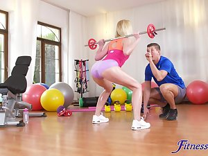 Fit mart Afina Kisser gives head together with gets fucked greater than the bed