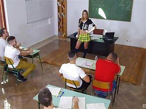 Vestibule fun with a difficulty hot teacher