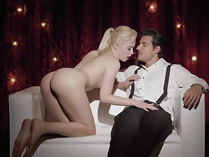 Classy man gives this young blonde the dick