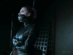 Naked and restrained trollop Lex Luthor gets punished in the BDSM room