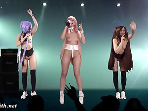 Naked Nightingale in the first place stage. Virtual Reality