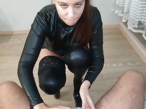 Sex with Gorgeous Brunette - Cum in Mouth